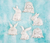 Rabbits Resin Shabby Chic Treasures - Prima