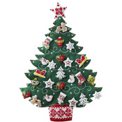 Nordic Tree Advent Calendar Felt Applique Kit