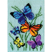 """5""""X7"""" Stitched In Yarn - Butterflies Galore Needlepoint Kit"""