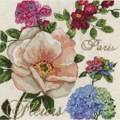 """10""""X10"""" 14 Count - Paris Fleurs Counted Cross Stitch Kit"""