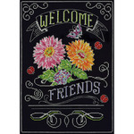 "10""X14"" 14 Count - Welcome Chalkboard Counted Cross Stitch Kit"