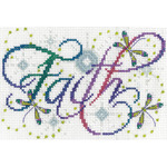 """5""""X7"""" 14 Count - Faith Counted Cross Stitch Kit"""