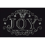 """4""""X6"""" 14 Count - Share Joy Counted Cross Stitch Kit"""