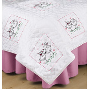 "Sheep Love - Stamped White Quilt Blocks 18""X18"" 6/Pkg"