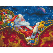Gold Collection Santa's Midnight Ride Counted Cross Stitch K