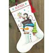 """16"""" Long 14 Count - Jolly Trio Stocking Counted Cross Stitch Kit"""