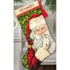 "16"" Long 18 Count - Secret Santa Stocking Counted Cross Stitch Kit"