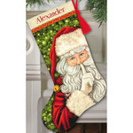 "16"" Long 18 Count - Secret Santa Stocking Counted Cross Stitch Kit"