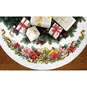 """45"""" Round 11 Count - Holiday Harmony Tree Skirt Counted Cross Stitch Kit"""