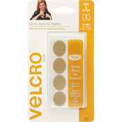 "Beige - VELCRO(R) Brand STICKY BACK For Fabric Ovals 1""X.75"""