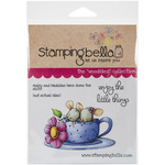 Maisy & Madeline Have Some Tea - Stamping Bella Cling Rubber Stamp
