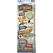 At The Lake Paper House Cardstock Stickers