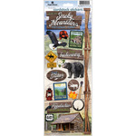 Great Smoky Mountains - Paper House Cardstock Stickers