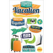 Paper House 3D Stickers - Family Vacation
