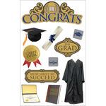Congrats - Paper House 3D Stickers