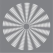 "Sunburst - Andy Skinner Mixed Media Stencil 8""X8"""