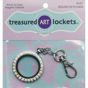 Silver Round - Keychain 1/Pkg