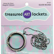 Silver Round - Jewelry Locket 1/Pkg