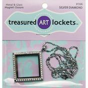 Silver Diamond - Jewelry Locket 1/Pkg