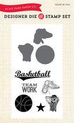 Basketball Stamp & Die Set - Echo Park