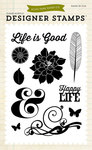 Life Is Good Clear Stamps - Echo Park