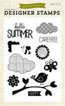 Hello Summer 4 x 6 Clear Stamp Set - Echo Park
