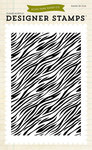 Zebra Print 4 x 6 Clear Stamp - Echo Park