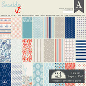 Seaside 12 x 12 Paper Pad - Authentique