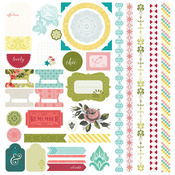 Tea Garden Element Stickers - Basic Grey