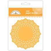 Tangerine Mini Paper Doilies - Doodlebug