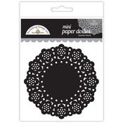 Beetle Black Mini Paper Doilies - Doodlebug