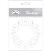 Lily White Mini Paper Doilies - Doodlebug