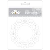 Lily White Mini Paper Doilies - Doodlebug