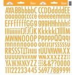 Tangerine Skinny Alphas Stickers - Doodlebug