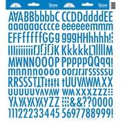 Blue Jean Skinny Alphas Stickers - Doodlebug