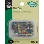 100/Pkg - Map Pins