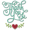 Thank You W/Hearts Thinlits Dies - Sizzix