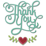 Sizzix Thinlits Dies 3/Pkg - Thank You W/Hearts