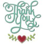 Sizzix Thinlits Dies 3/Pkg - Thank You W/Hearts