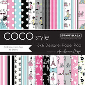 "Coco Style - Penny Black Paper Pad 6""X6"" 48/Pkg"