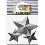 Stars - Salvaged Tin Metal Shapes 3/Pkg