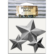 Stars - Salvaged Tin Metal Shapes 3/Pkg