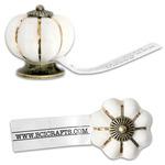 Salvaged Antique White Knob-