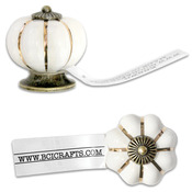 Salvaged Antique White Knob-