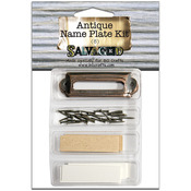 Salvaged Antique Name Plate Kit-