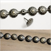 Salvaged Nail On Metal Deco Strip W/Tacks-