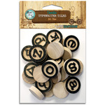 Vintage Collection Wood Typewriter Tiles 26/Pkg-