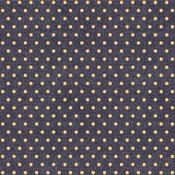 Yellow Dot Fabric Sheet - Denim Blues - We R Memory Keepers