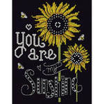 """8""""X10"""" 14 Count - You Are My Sunshine Counted Cross Stitch Kit"""