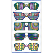 "6.125""X11"" 16 Count - Summer Fun Glasses Counted Cross Stitch Kit"